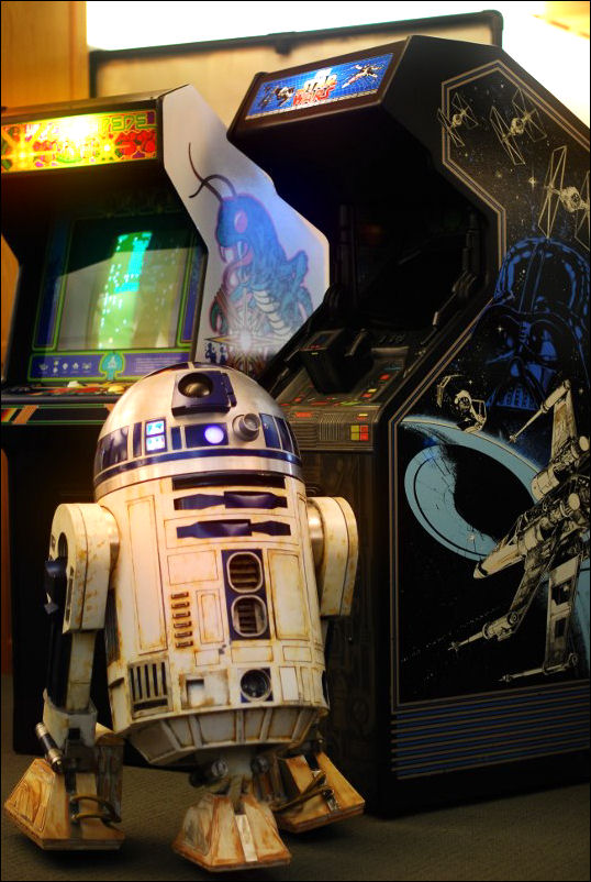 Artoo playing Star Wars