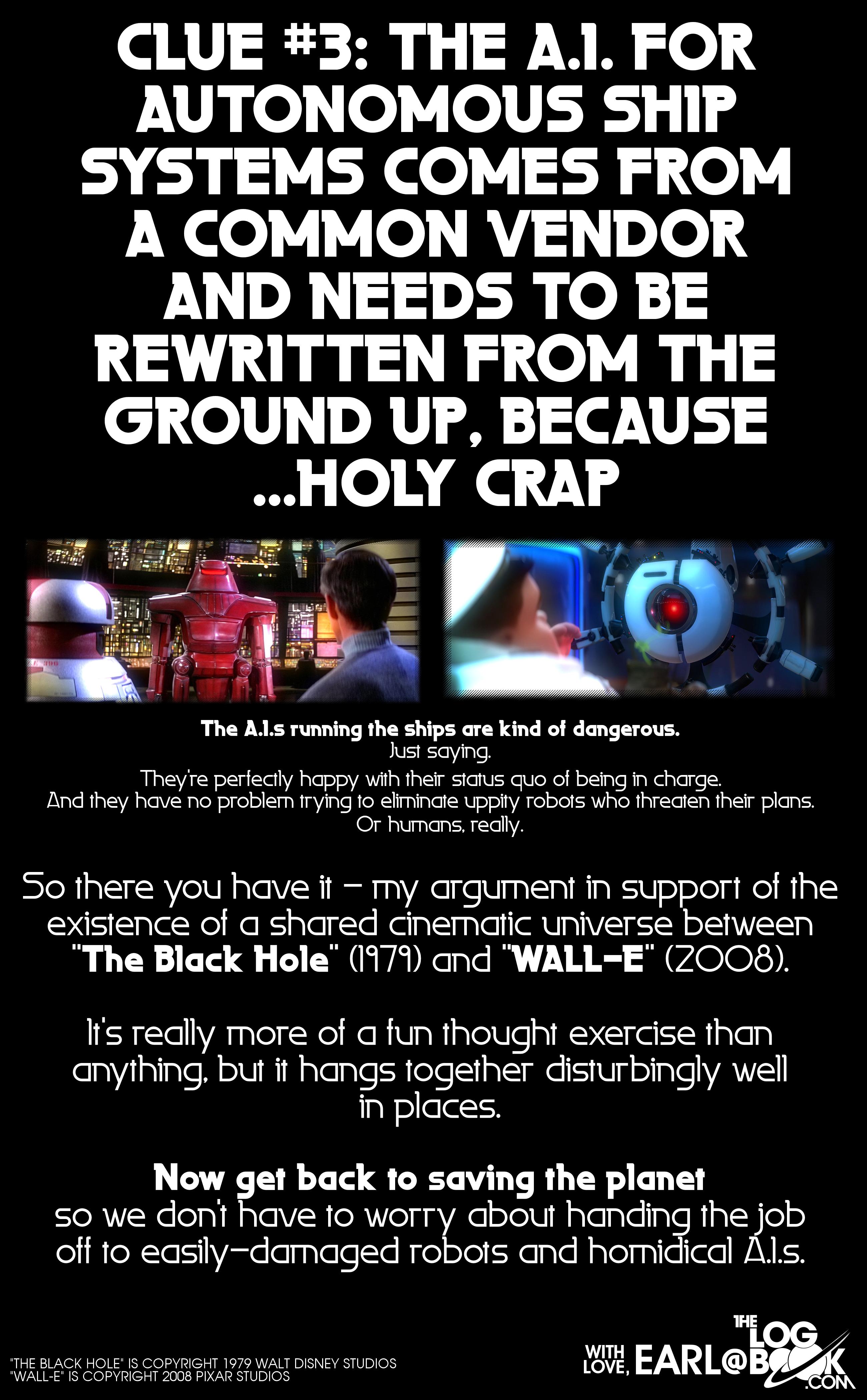 The Black Hole & WALL-E Cinematic Universe