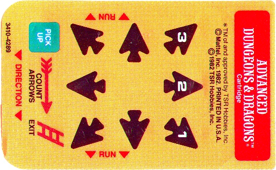 Advanced Dungeons & Dragons Cartridge Overlays