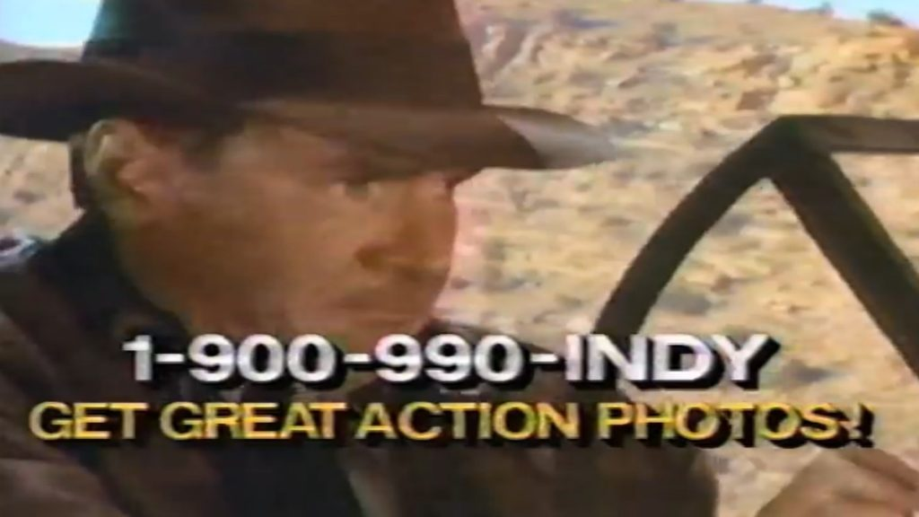 If Adventure Has A Phone Number It Must Be Indiana Jones - 1989 - 900 Number