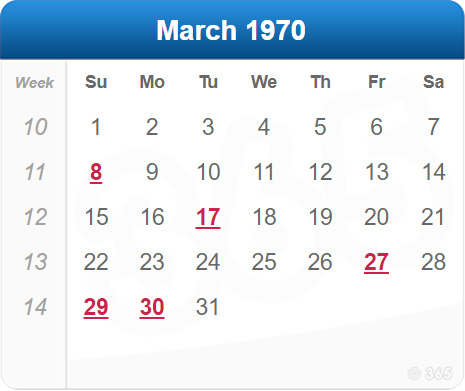 March 1970