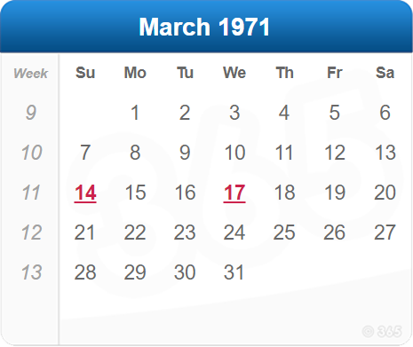 March 1971