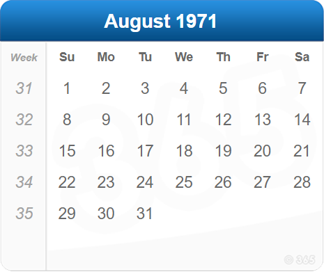 August 1971