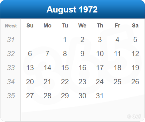 August 1972
