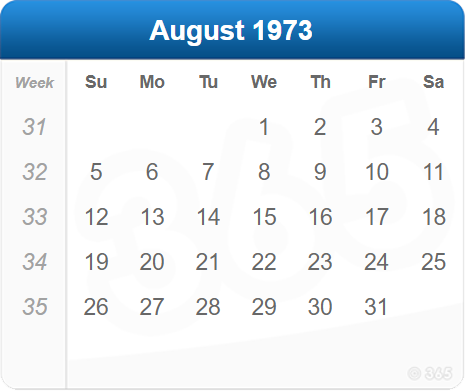August 1973