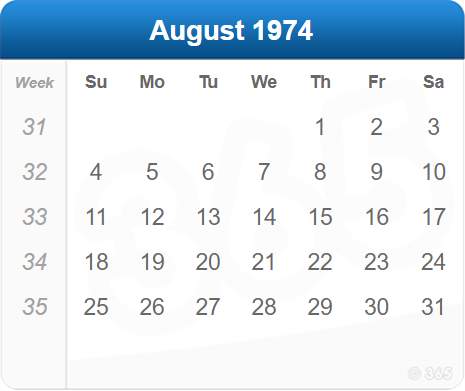 August 1974