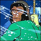 Planet of the snowy animated apes