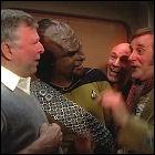 Barrie Ingham with Dorn, Stewart, Roddenberry
