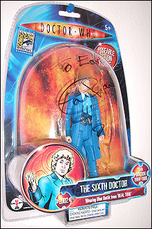 The variant Big Finish Sixth Doctor, autographed by Colin Baker