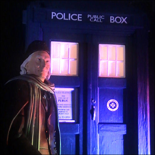 The First Doctor with TARDIS