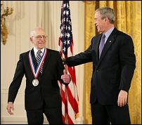 Ralph Baer with President Bush